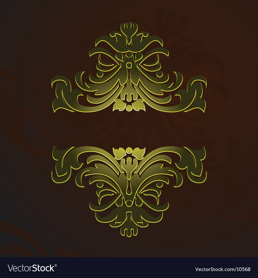 Gold decorative vintage ornate banner vector | Price: 1 Credit (USD $1)