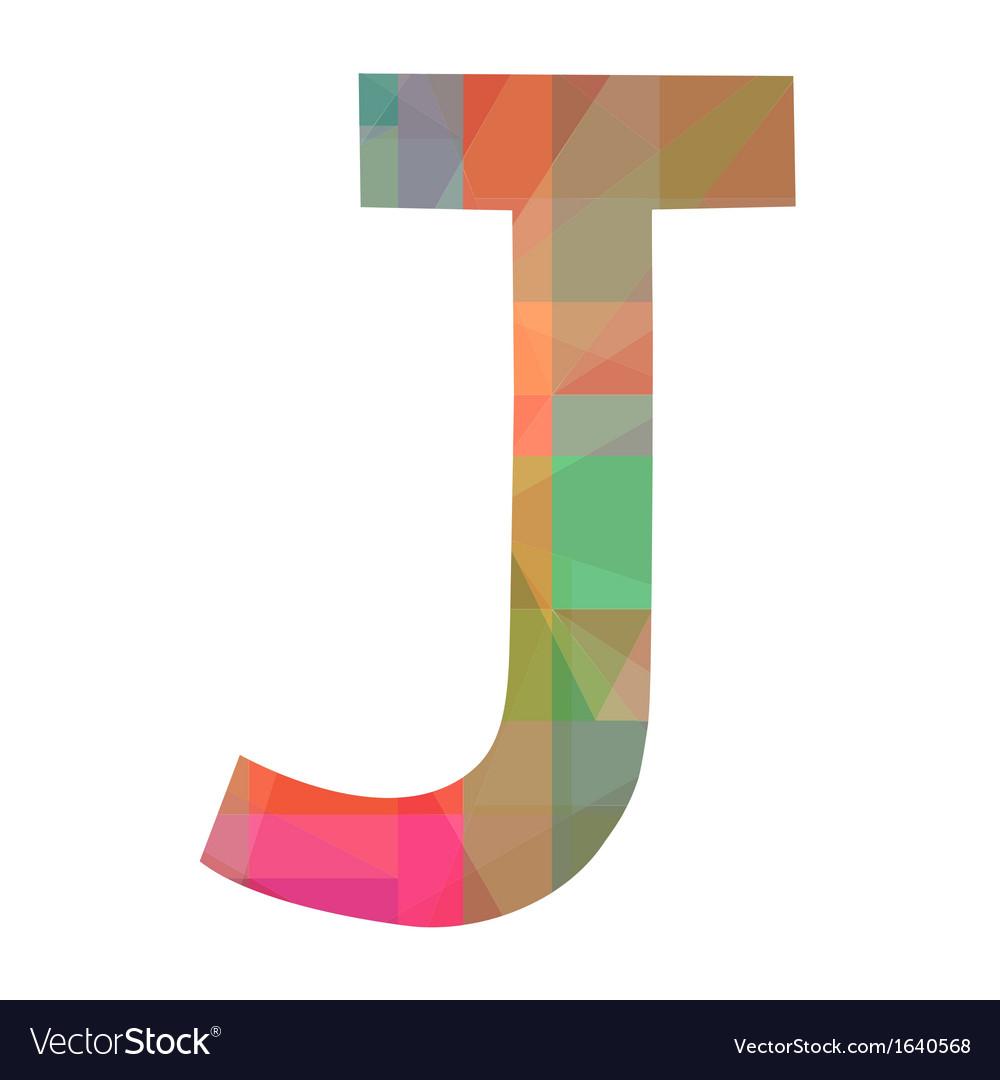 J alphabet vector | Price: 1 Credit (USD $1)