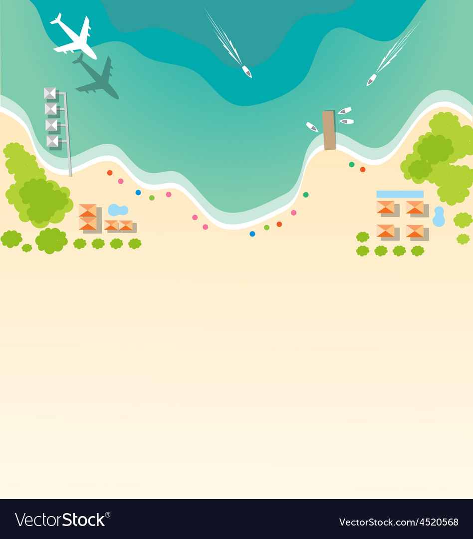 Paradise tropical beach background for summer vector | Price: 1 Credit (USD $1)