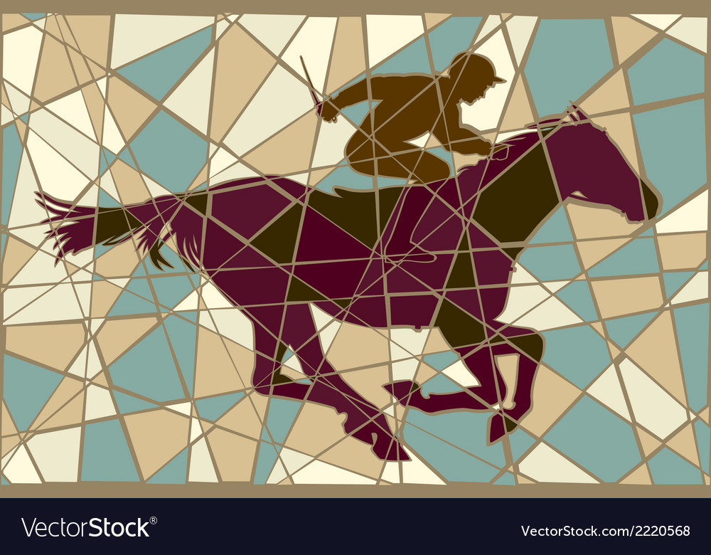 Racing horse mosaic vector | Price: 1 Credit (USD $1)