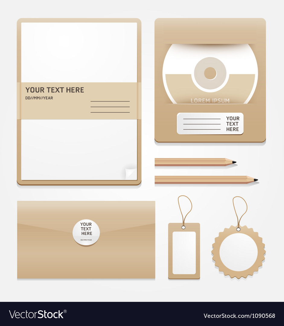 Stationary brown paper vector | Price: 1 Credit (USD $1)