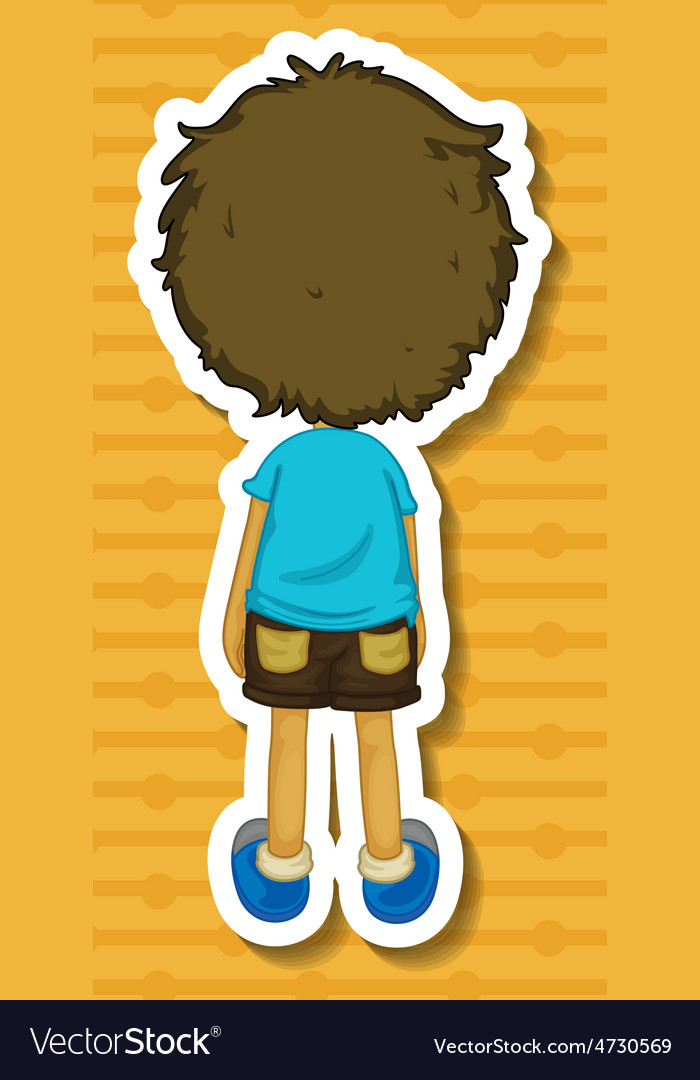 Back of boy vector | Price: 1 Credit (USD $1)