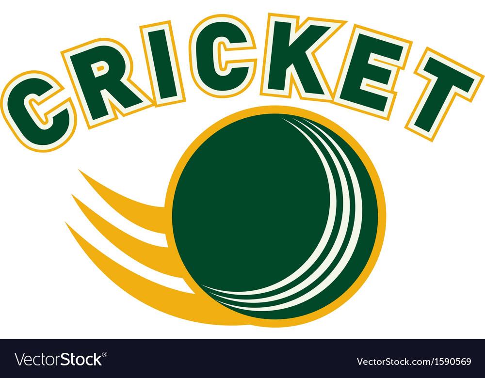 Cricket sports ball flying vector
