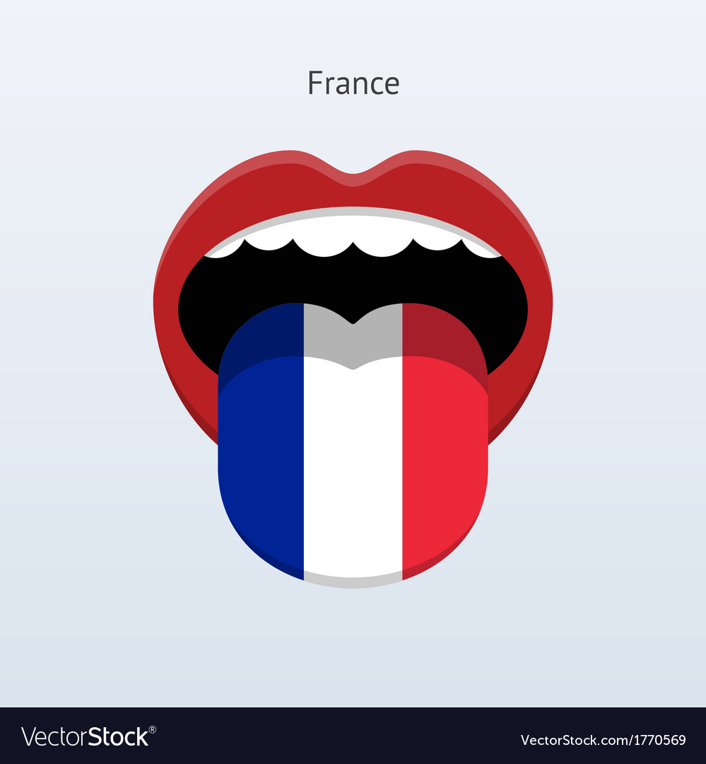 France language abstract human tongue vector | Price: 1 Credit (USD $1)