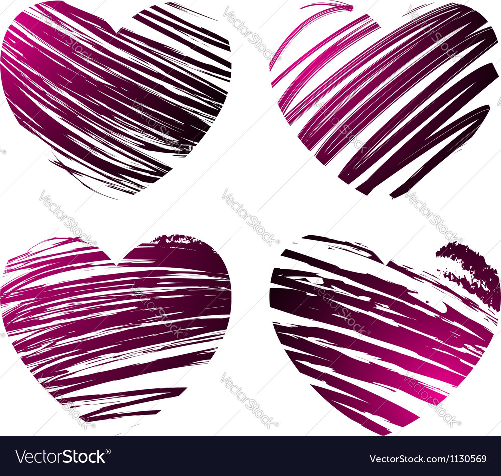 Grunge hearts 2 vector | Price: 1 Credit (USD $1)