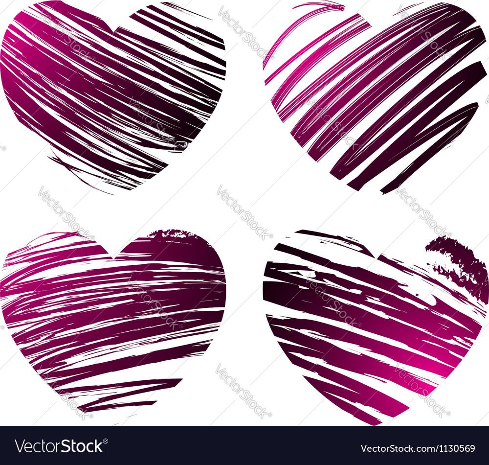 Grunge hearts 2 vector | Price: 1 Credit (USD $1)