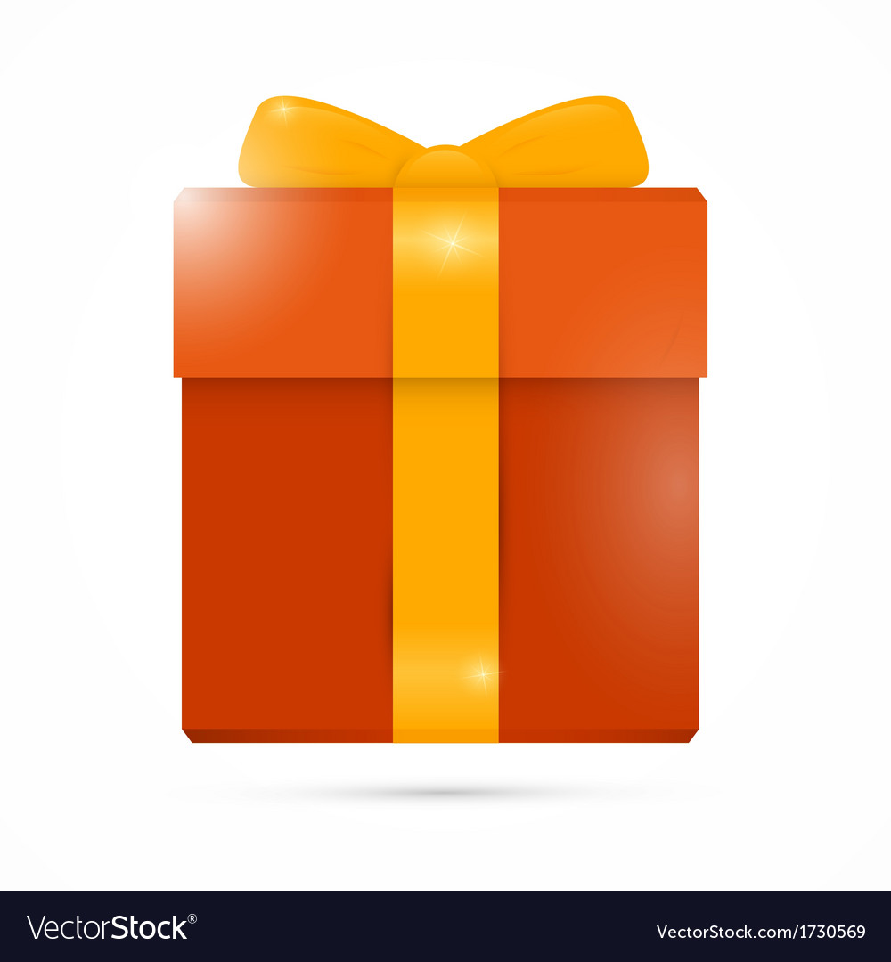 Orange present box gift box vector | Price: 1 Credit (USD $1)