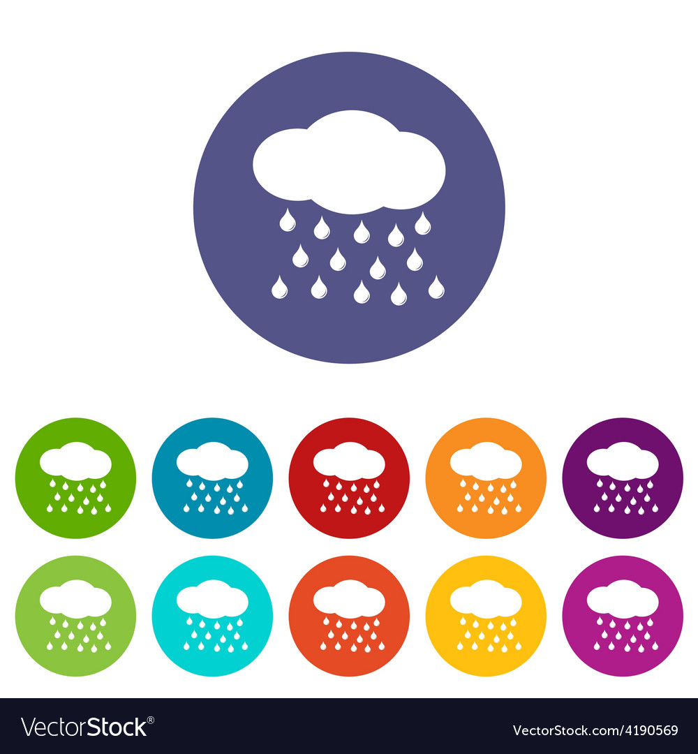 Rain flat icon vector | Price: 1 Credit (USD $1)