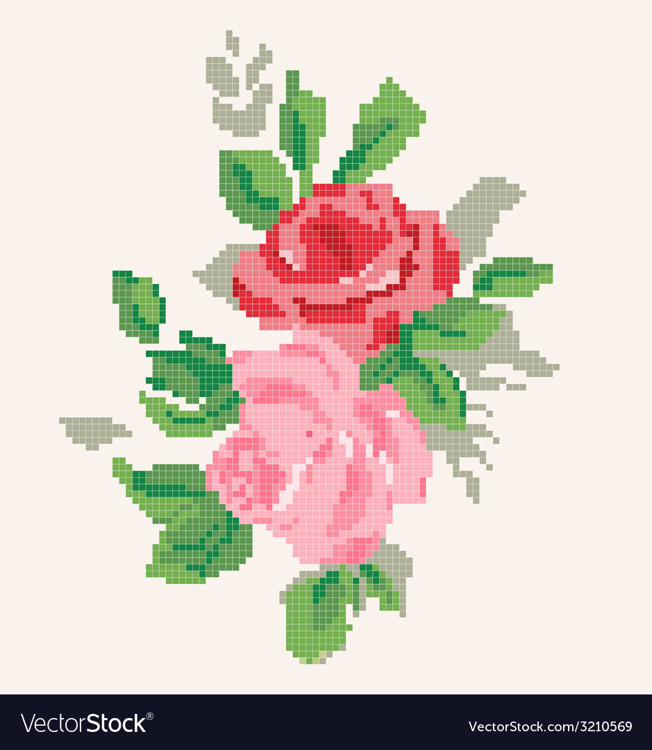 Roses artwork vector | Price: 1 Credit (USD $1)