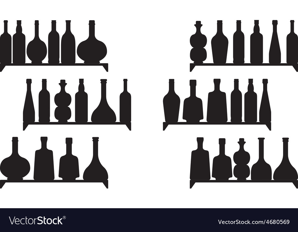 Shelves with booze vector | Price: 1 Credit (USD $1)