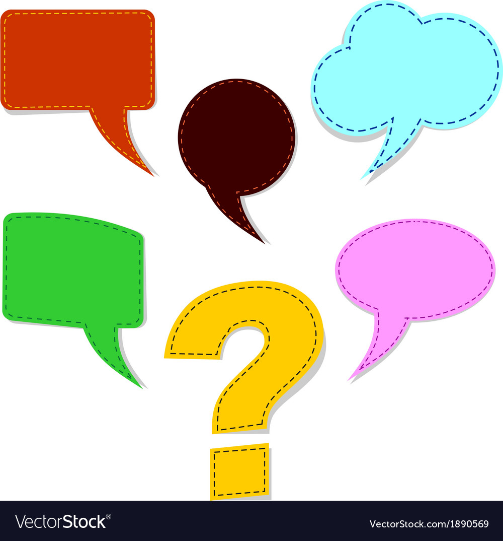 Speech bubbles with question mark vector | Price: 1 Credit (USD $1)