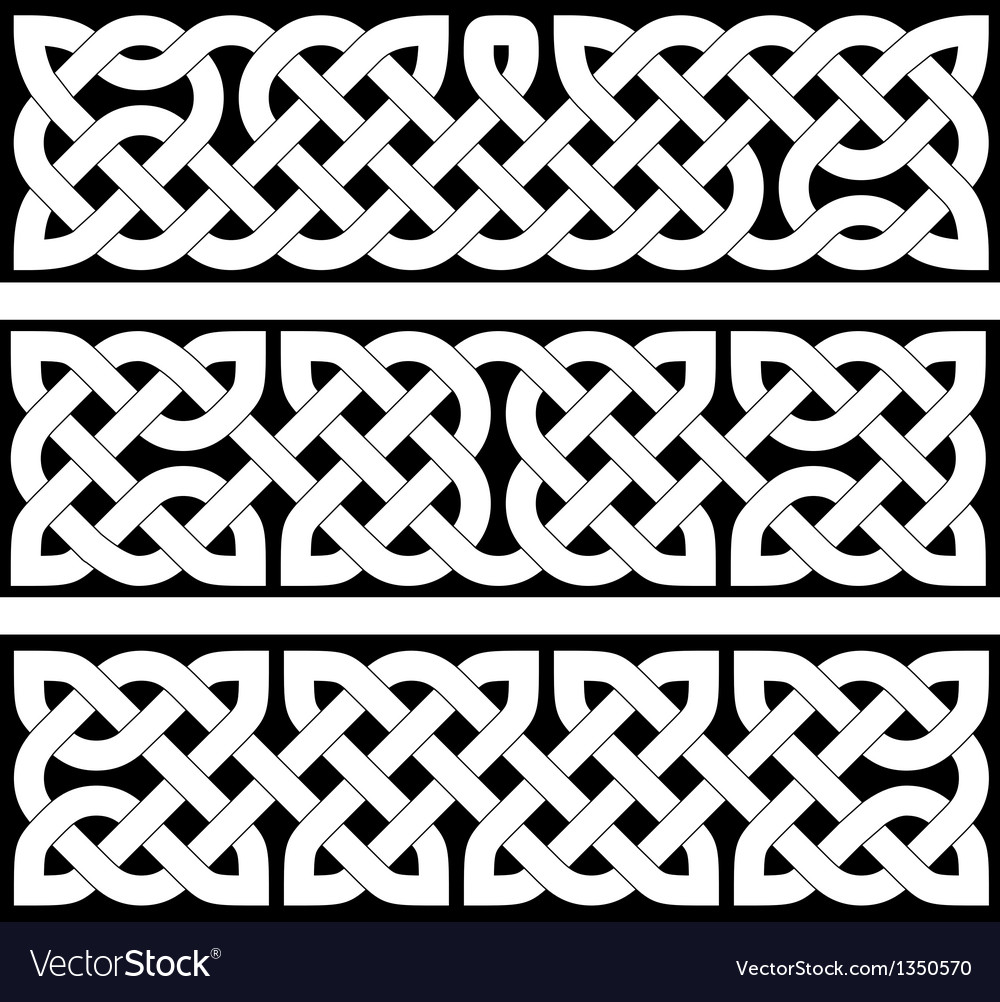 3 celtic braid patterns vector | Price: 1 Credit (USD $1)