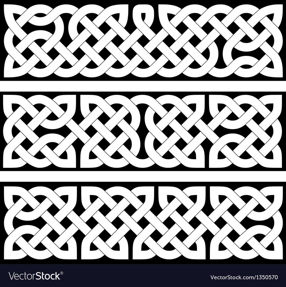 3 celtic braid patterns vector | Price: 1 Credit (USD $1)