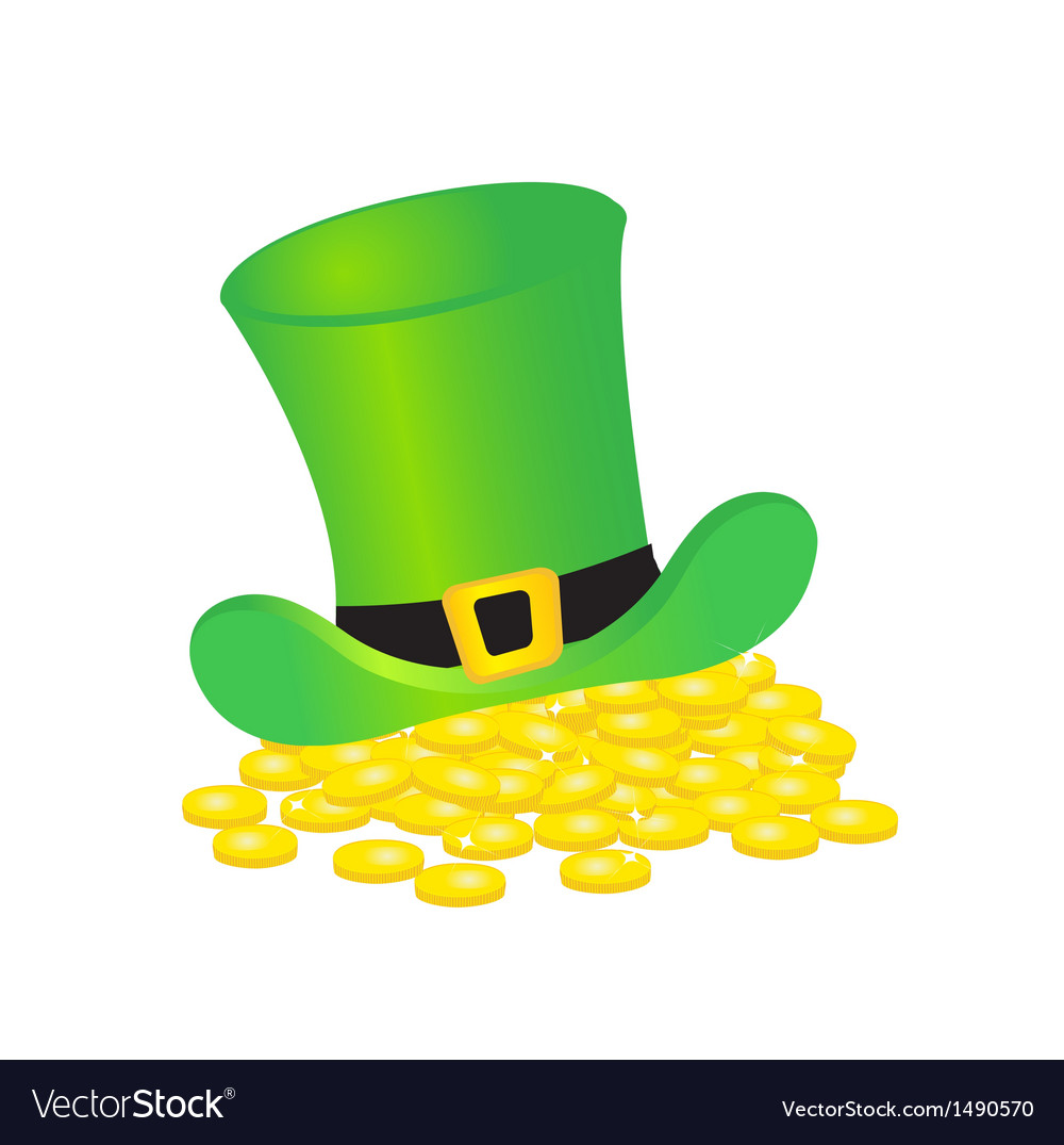 Background with leprechaun or gnome on patrick day vector | Price: 1 Credit (USD $1)