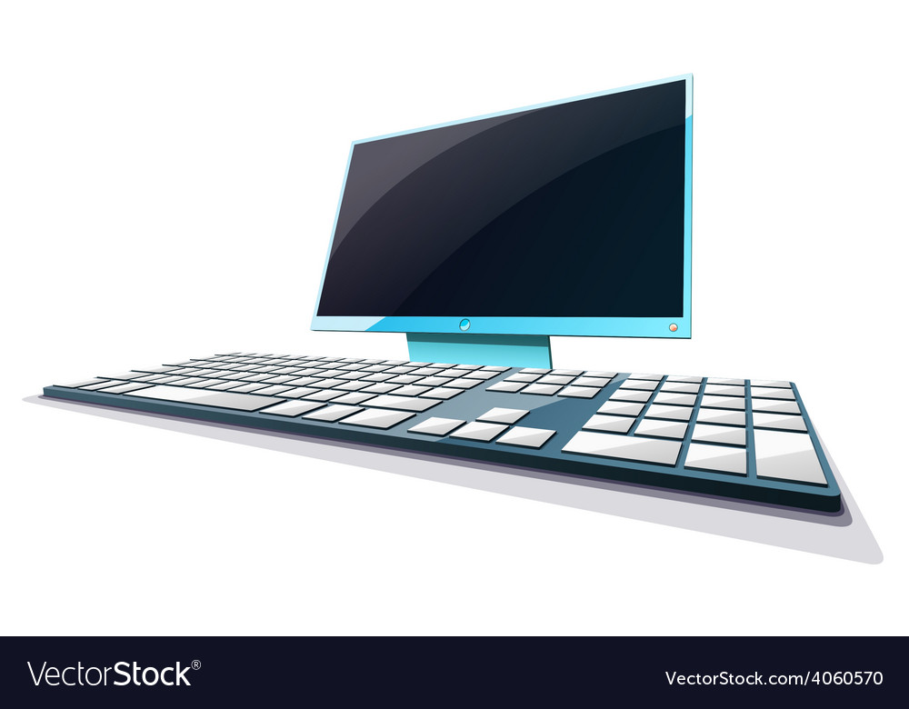 Display computer perspective in vector | Price: 3 Credit (USD $3)