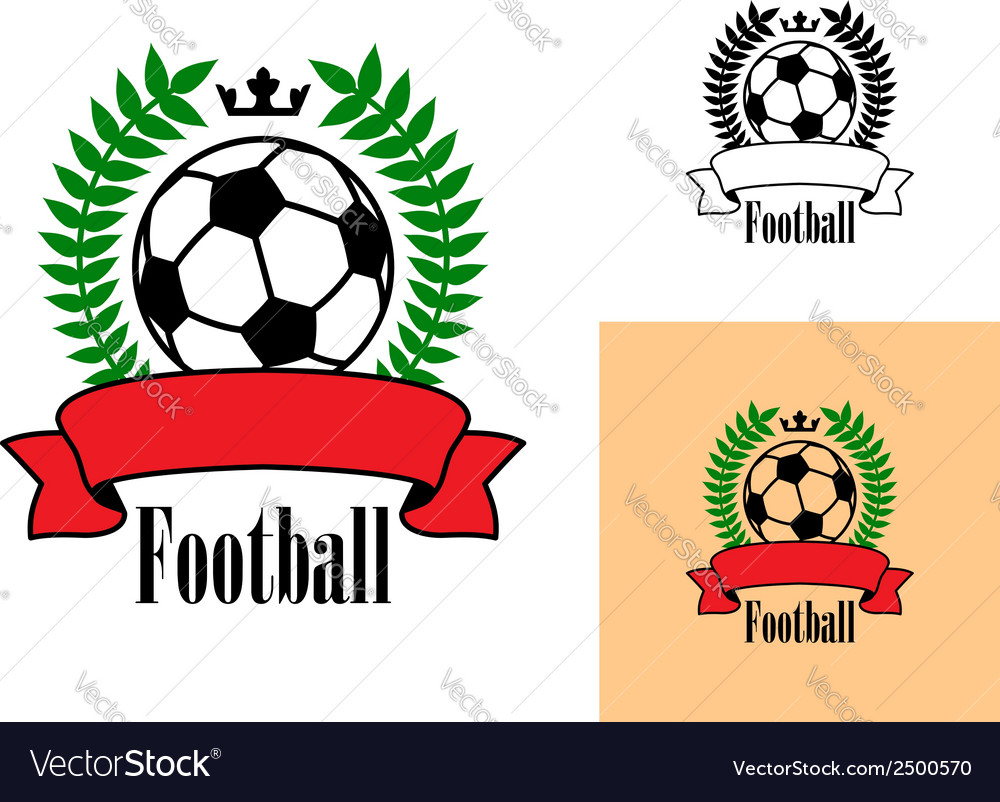 Football or soccer emblem vector | Price: 1 Credit (USD $1)