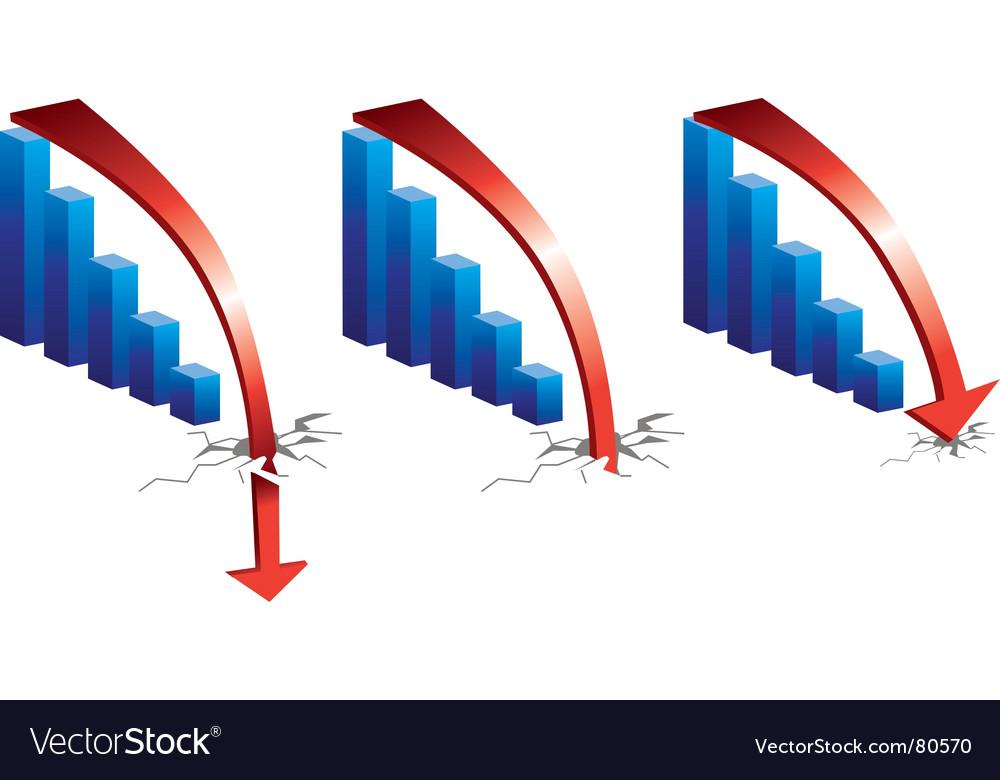 Graph downturn vector | Price: 1 Credit (USD $1)