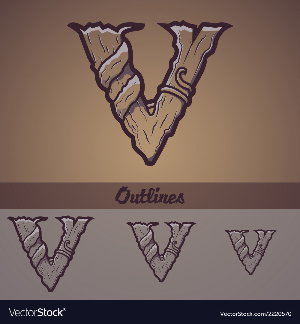 Halloween decorative alphabet - v letter vector | Price: 1 Credit (USD $1)