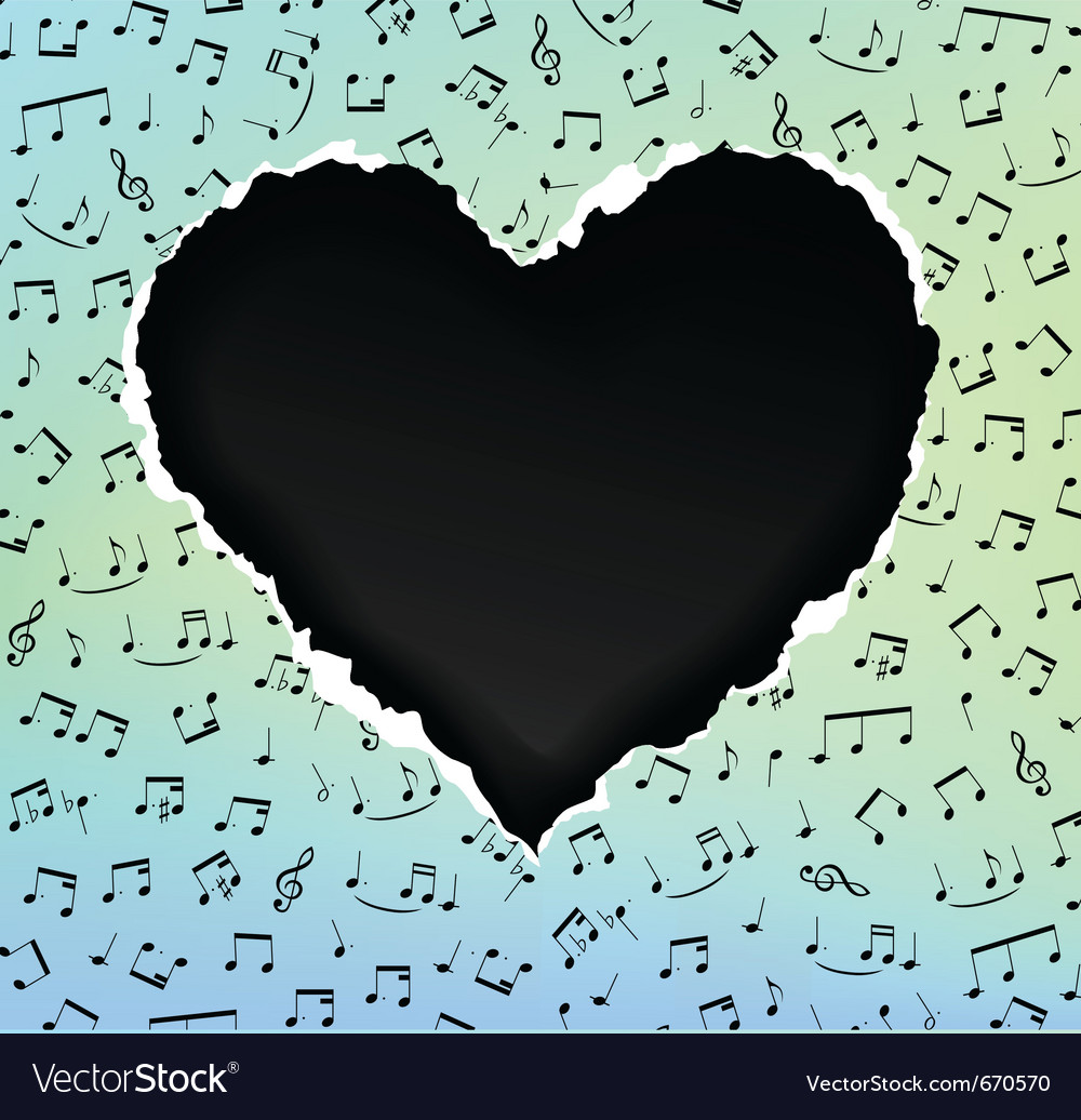 Heart music vector | Price: 1 Credit (USD $1)