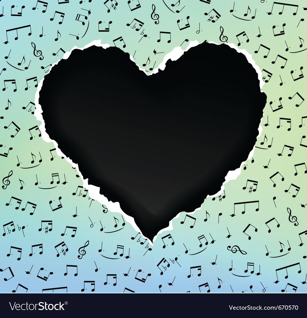 Heart music vector | Price: 1 Credit (USD $1)