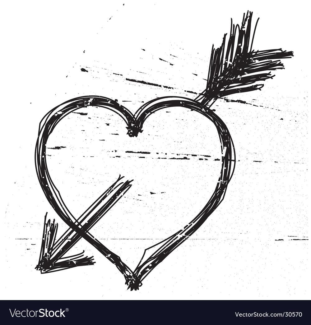 Heart symbol on grunge background vector | Price: 1 Credit (USD $1)