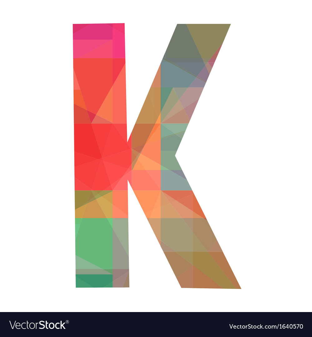 K alphabet vector | Price: 1 Credit (USD $1)
