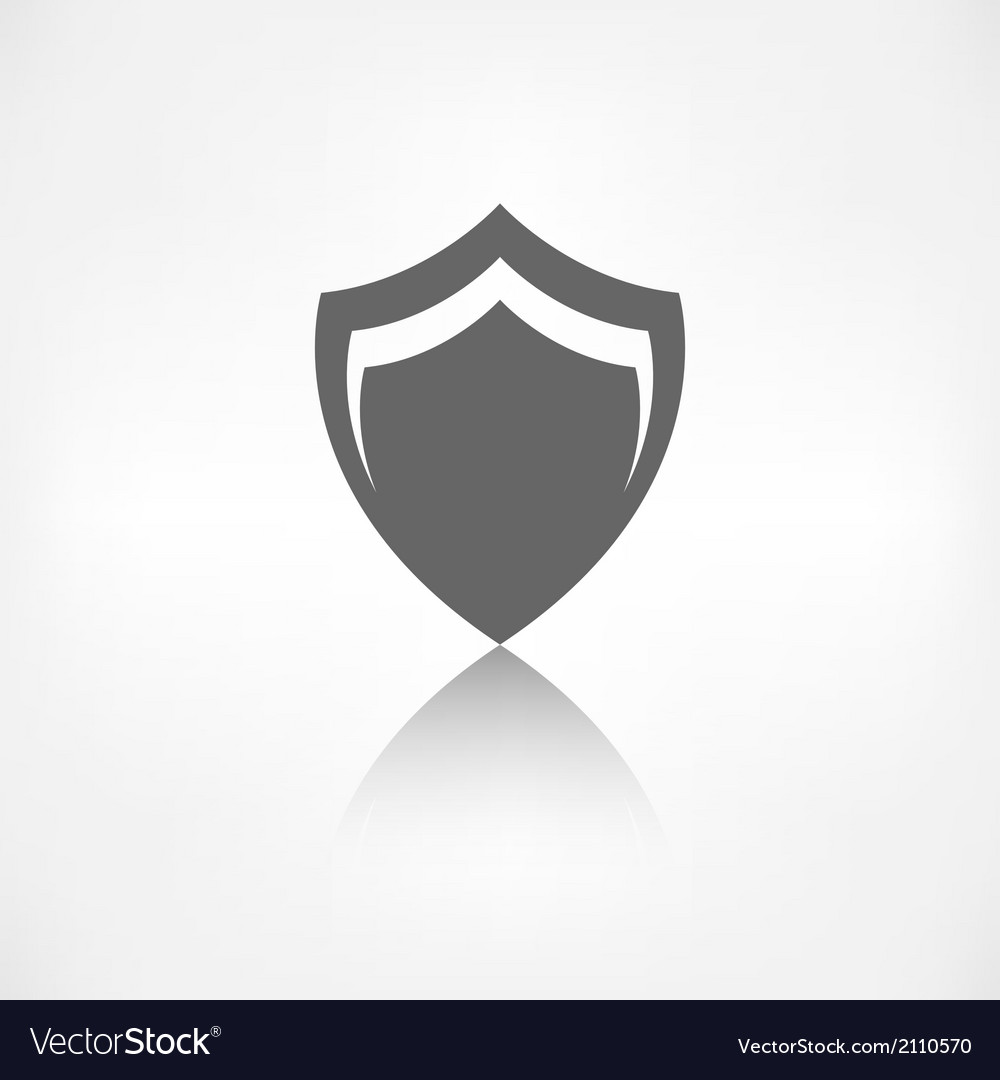 Shield protection icon vector | Price: 1 Credit (USD $1)