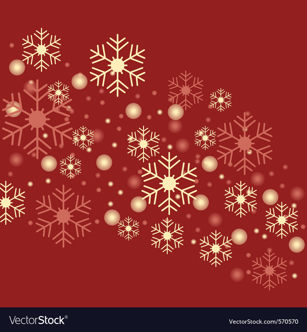 Snowflake red background vector | Price: 1 Credit (USD $1)