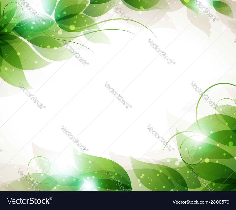 Transparent green leaves vector | Price: 1 Credit (USD $1)