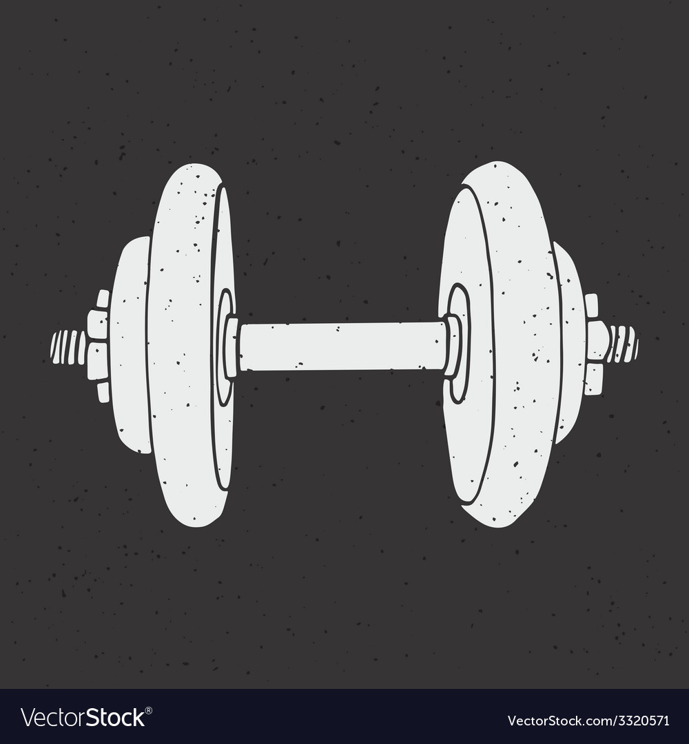 Dumbbell print vector | Price: 1 Credit (USD $1)