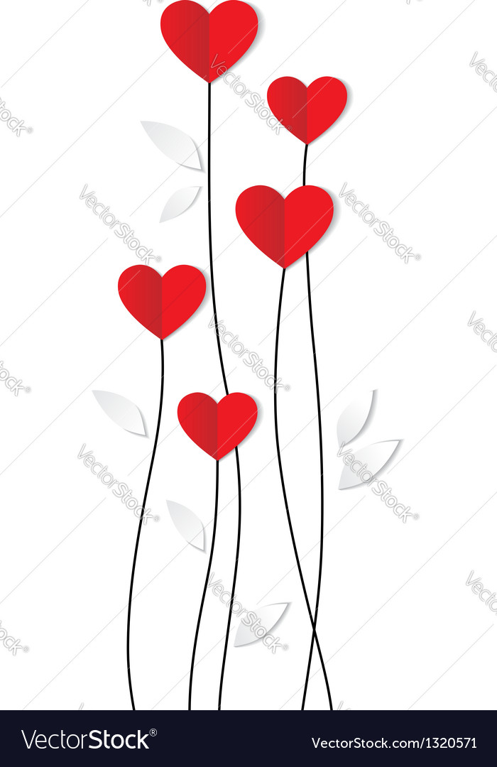 Holiday card heart from paper valentines day vector | Price: 1 Credit (USD $1)