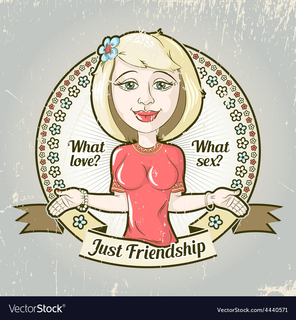 Housewife friendship emblem vector | Price: 1 Credit (USD $1)