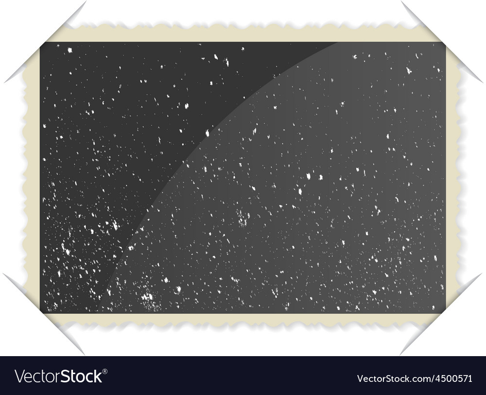 Retro photo frame on white background vector | Price: 1 Credit (USD $1)