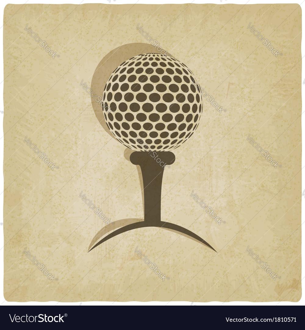 Sport golf logo old background vector | Price: 1 Credit (USD $1)