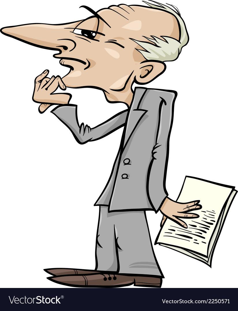 Thinking man cartoon vector | Price: 1 Credit (USD $1)