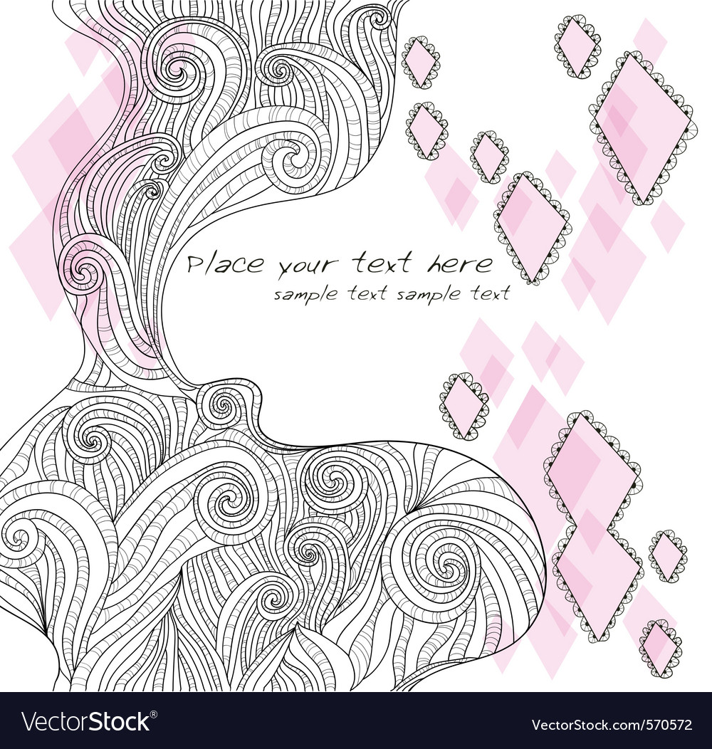 Abstract handdrawn doodle background vector | Price: 1 Credit (USD $1)