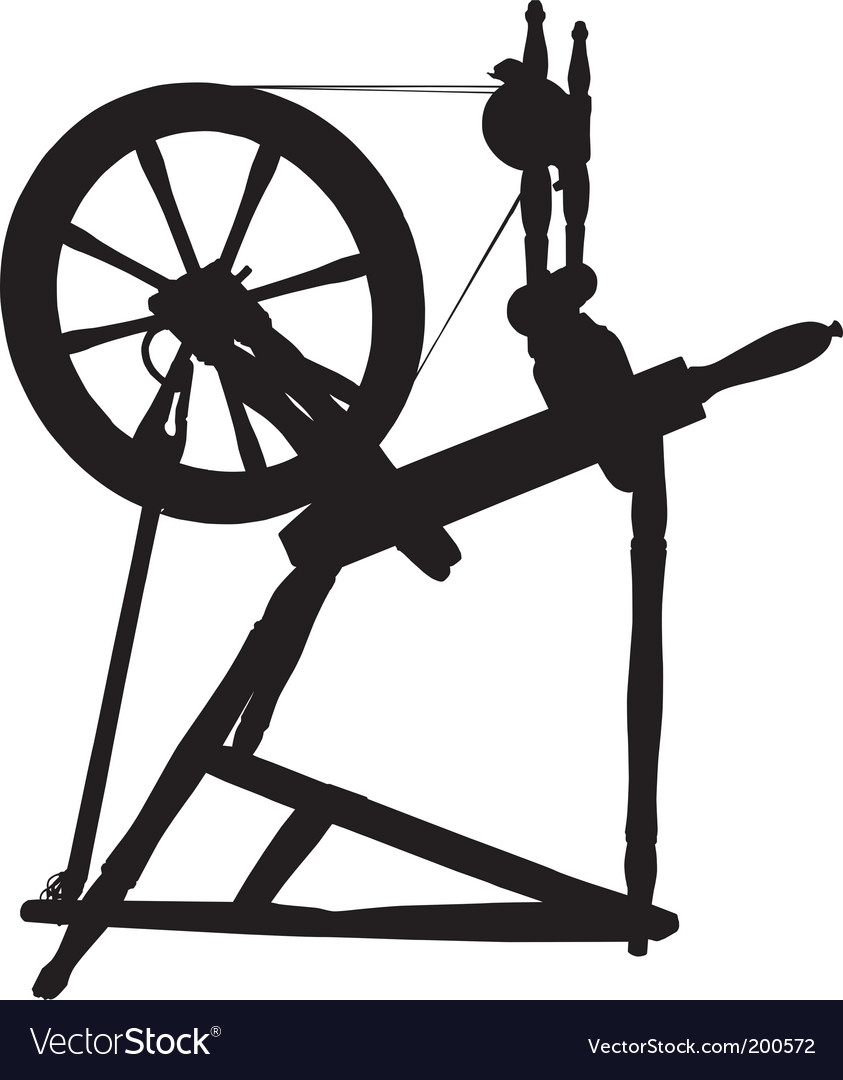 Antique spinning wheel vector | Price: 1 Credit (USD $1)