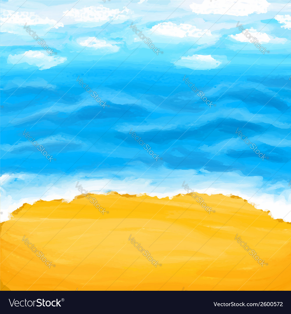 Beach sea sand summer background vector | Price: 1 Credit (USD $1)