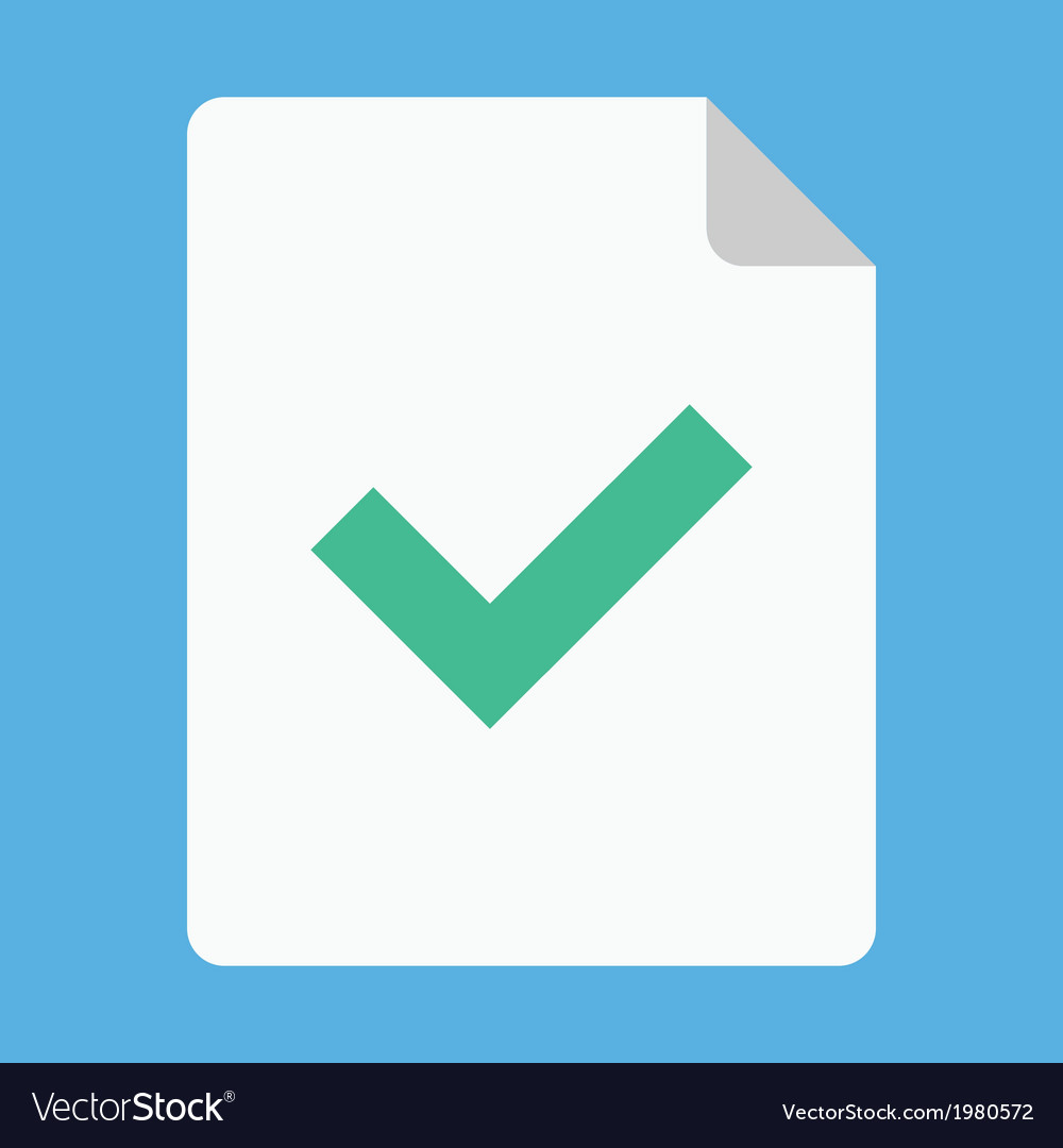 Document and tick icon vector | Price: 1 Credit (USD $1)