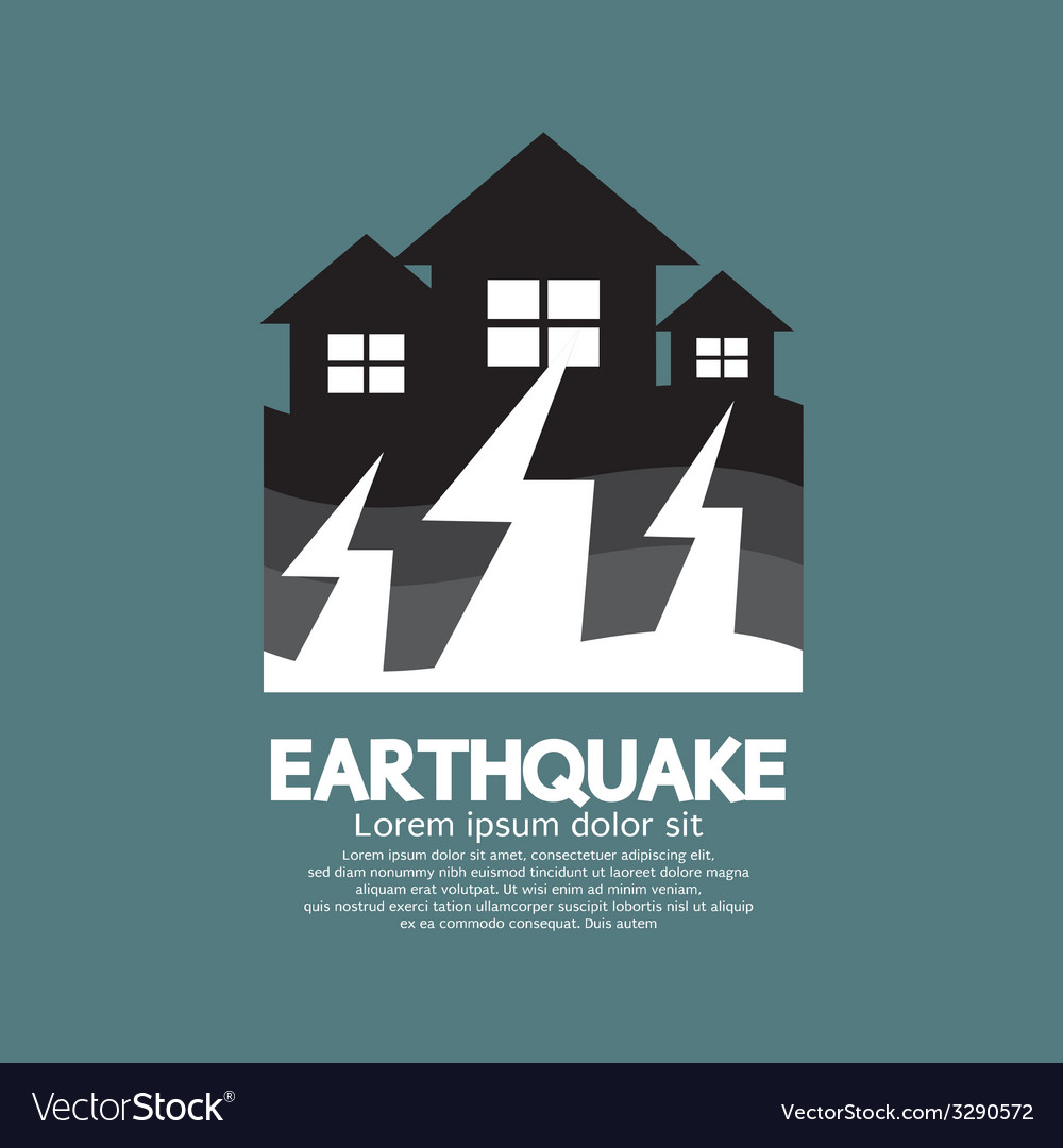 Earthquake effect to home vector | Price: 1 Credit (USD $1)