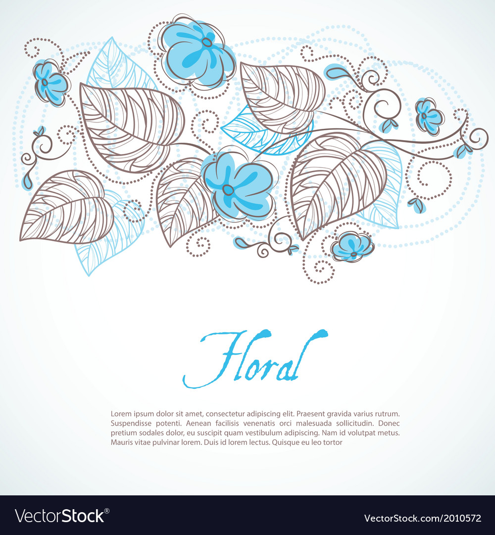 Flowers background vector | Price: 1 Credit (USD $1)
