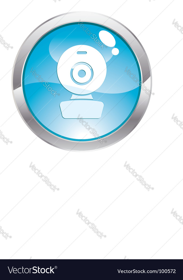 Gloss button with web cam vector | Price: 1 Credit (USD $1)