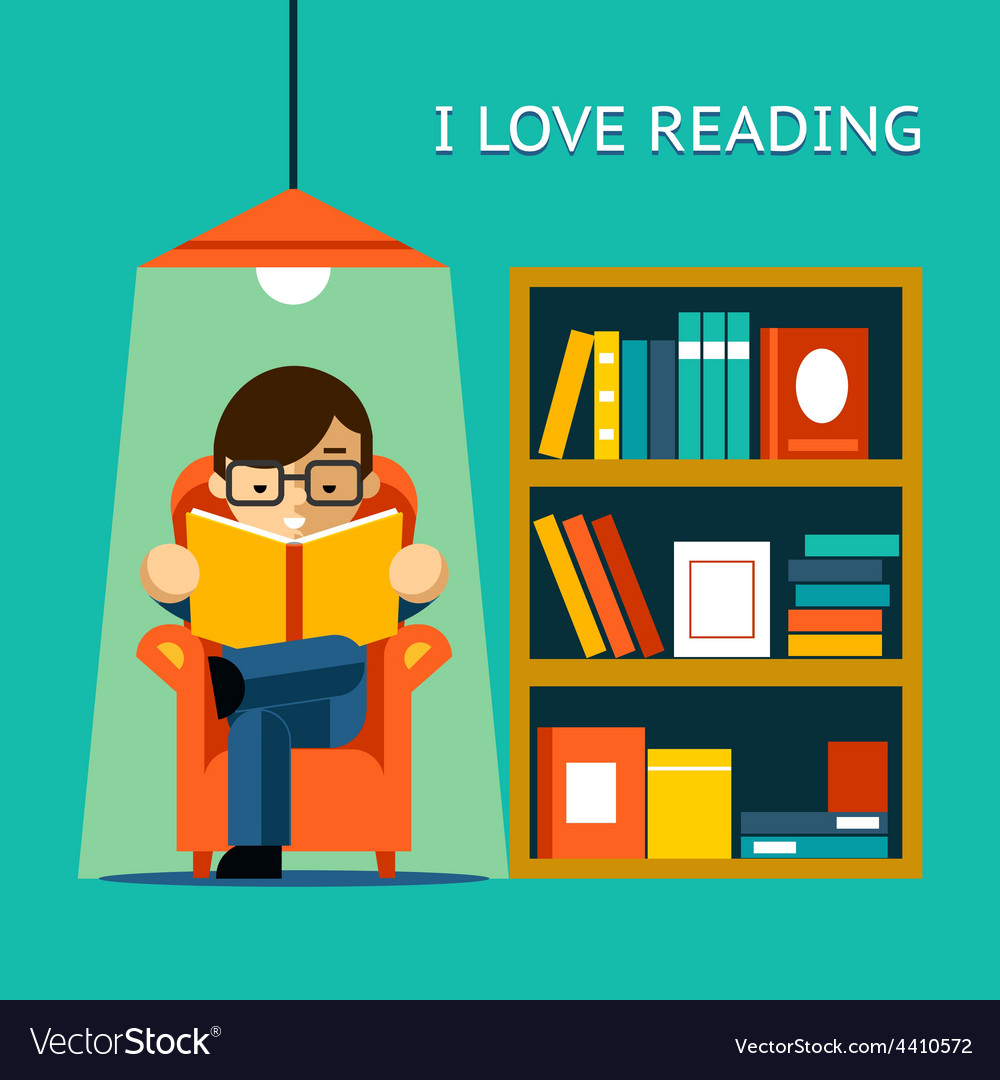 I love reading vector | Price: 1 Credit (USD $1)