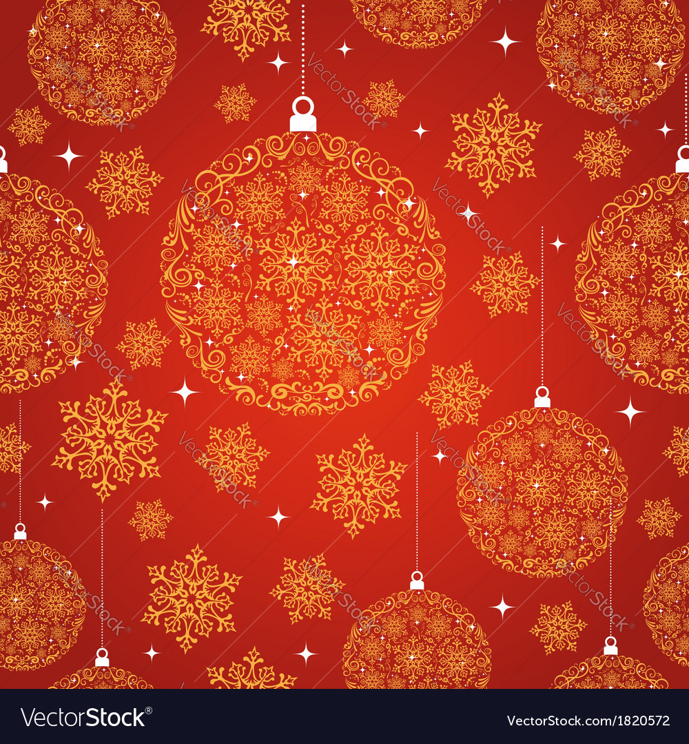 Merry christmas red seamless pattern background vector | Price: 1 Credit (USD $1)