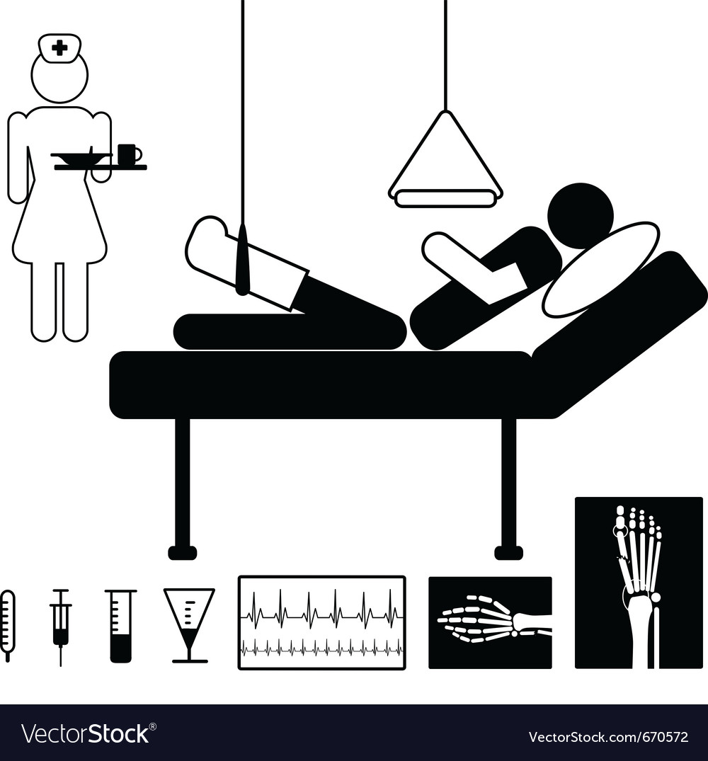 Patient in hospital vector | Price: 1 Credit (USD $1)