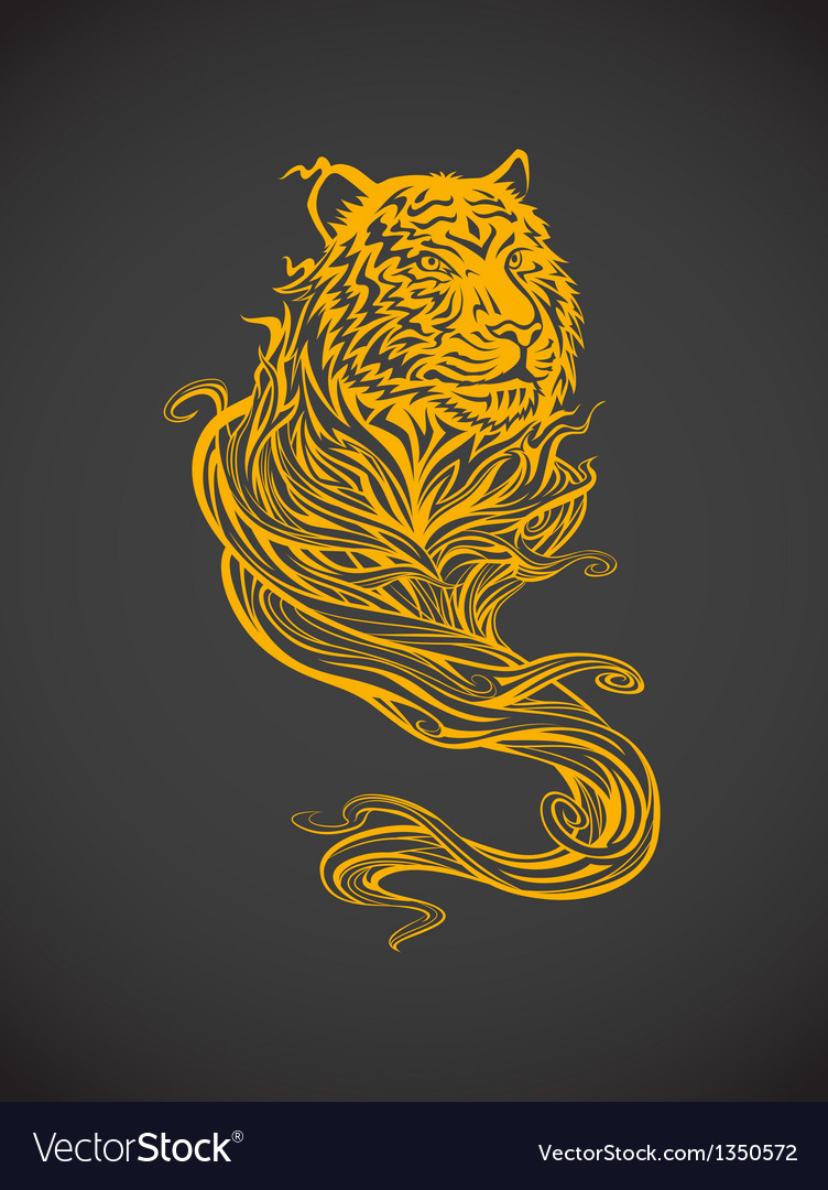 Tiger spirit light vector | Price: 1 Credit (USD $1)