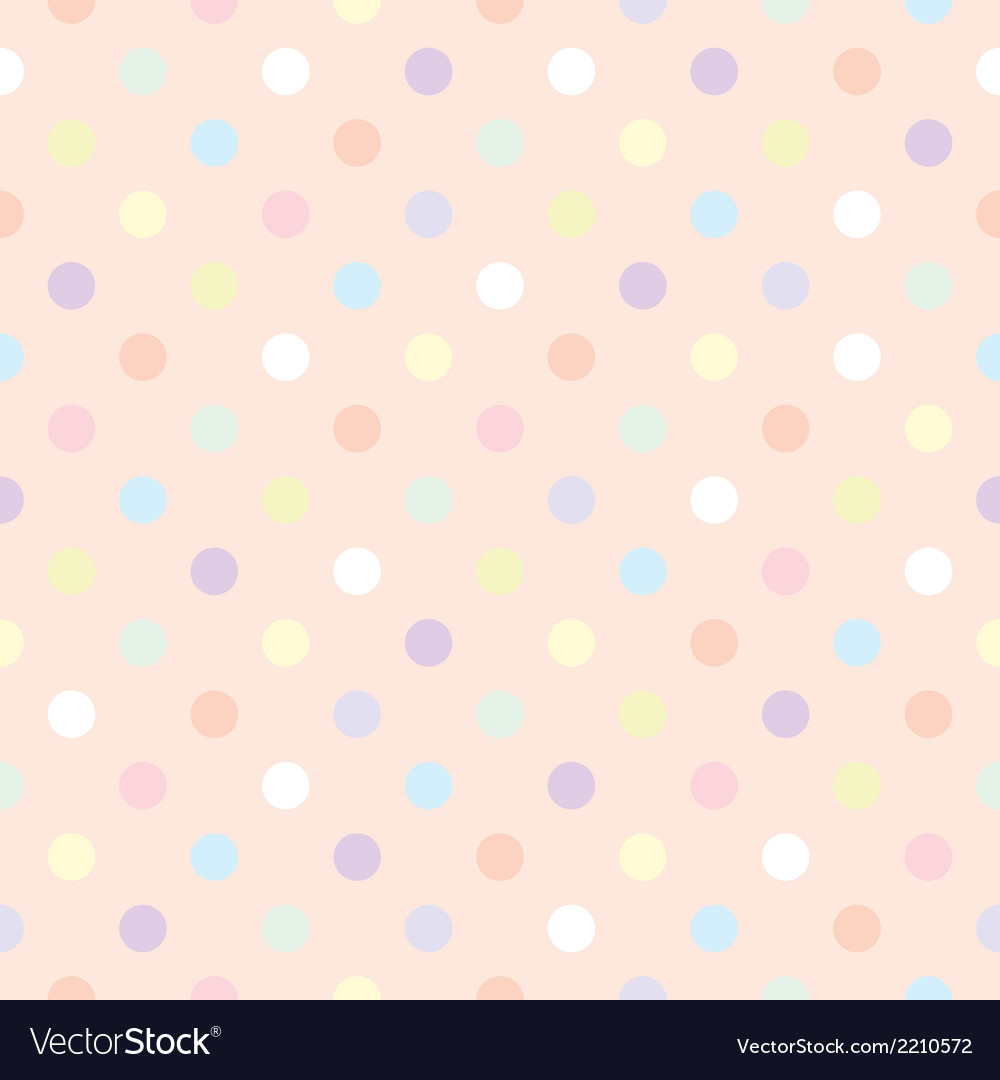 Tile pastel polka dots pink pattern vector | Price: 1 Credit (USD $1)
