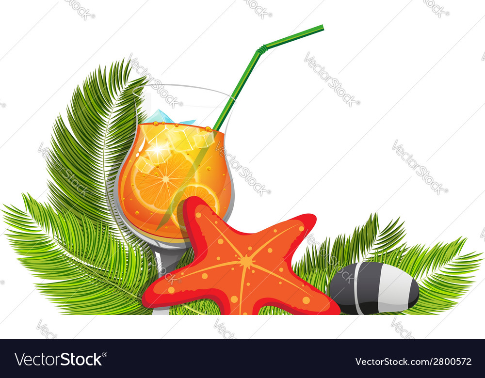 Tropical cocktail vector | Price: 1 Credit (USD $1)