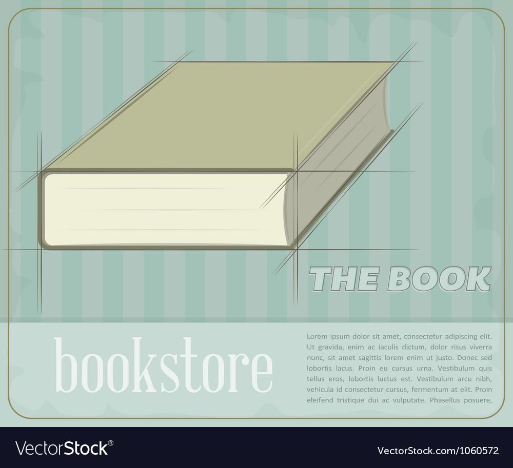 Vintage book vector