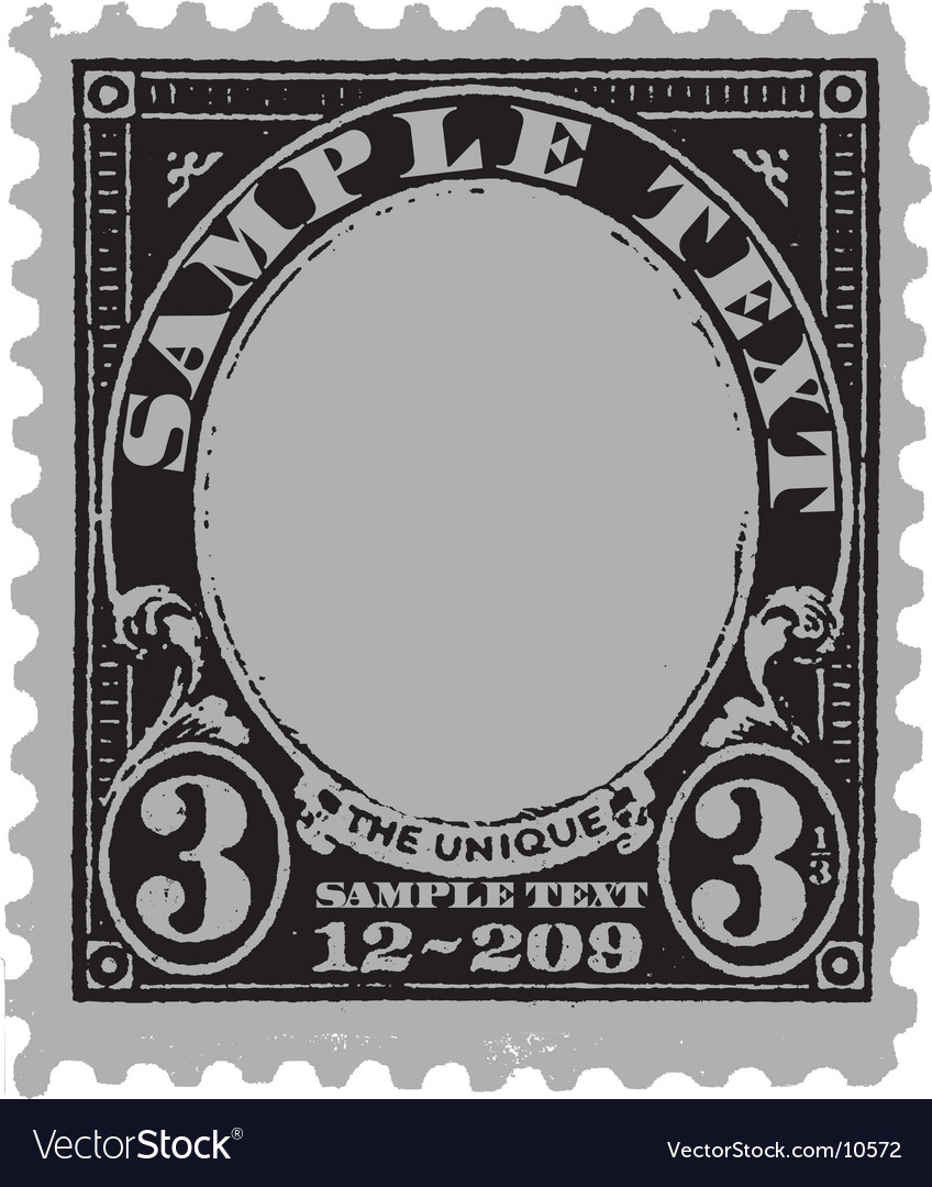 Vintage postal mark vector | Price: 1 Credit (USD $1)